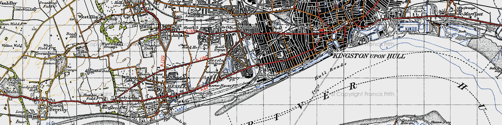 Old map of Gipsyville in 1947