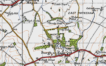 Old map of Girsby Top in 1946
