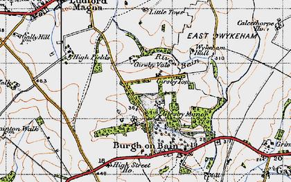 Old map of West Wykeham Village in 1946