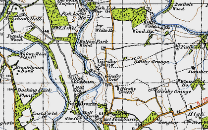 Old map of Liberty Lodge in 1947