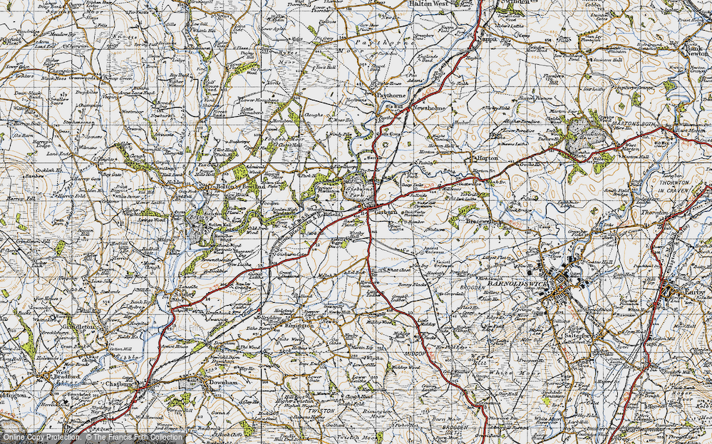 Old Map of Gisburn, 1947 in 1947