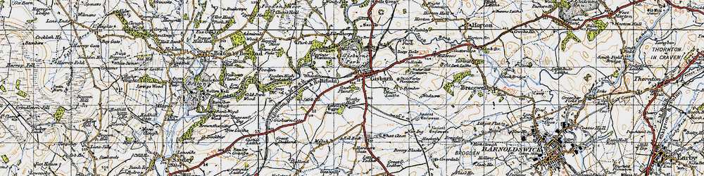Old map of What Close in 1947