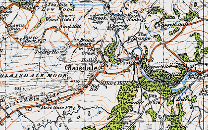 Old map of Glaisdale in 1947