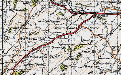 Old map of Betws in 1947