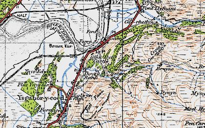 Old map of Glandyfi in 1947