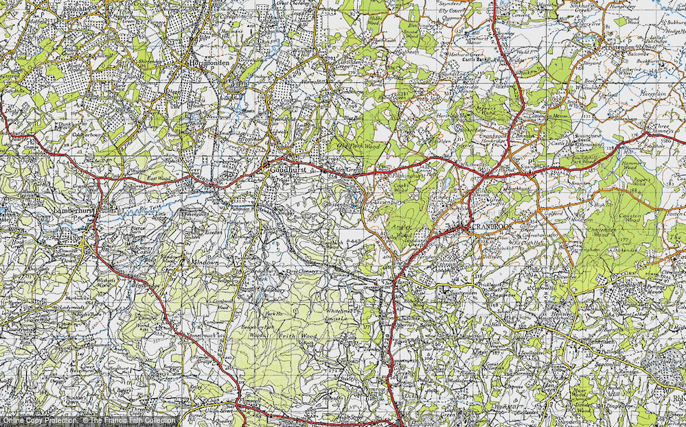 Old Map of Glassenbury, 1940 in 1940
