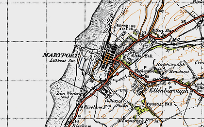 Old map of Alavna Roman Fort in 1947