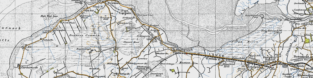 Old map of Whitriggmoor Ho in 1947