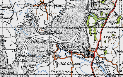 Old map of Glasson in 1947