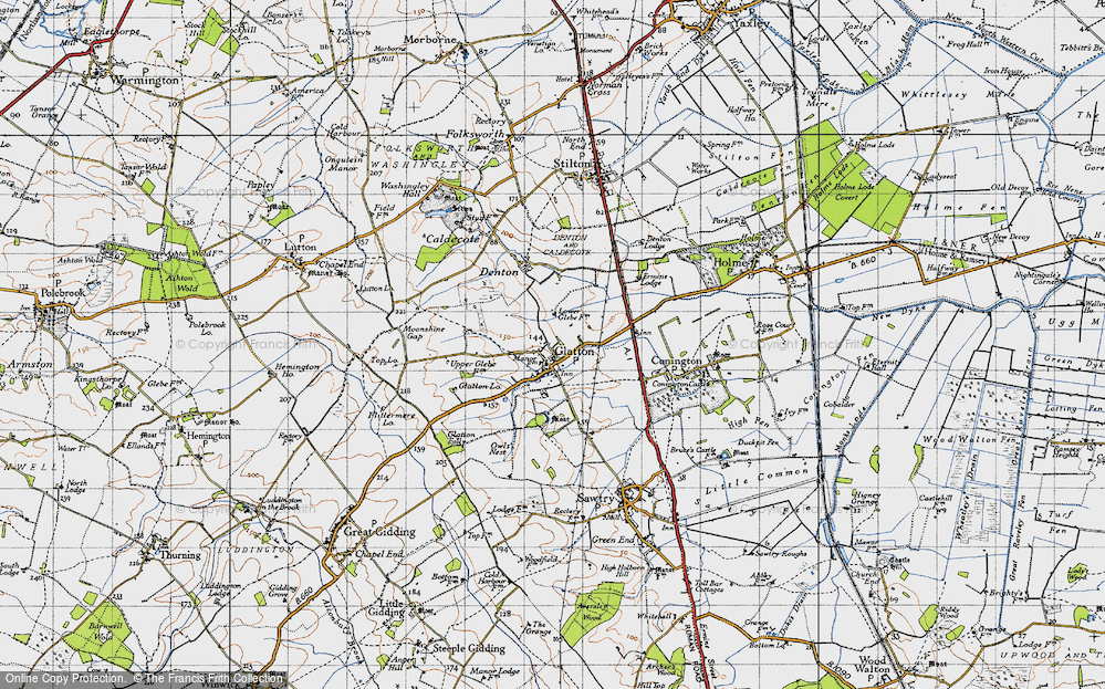 Old Map of Glatton, 1946 in 1946