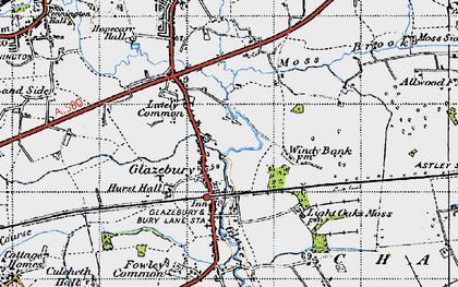 Old map of Glazebury in 1947