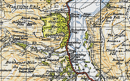 Old map of Westside in 1947