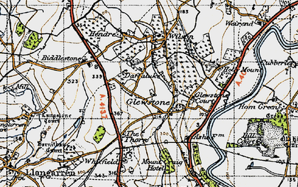 Old map of Hollymount in 1947