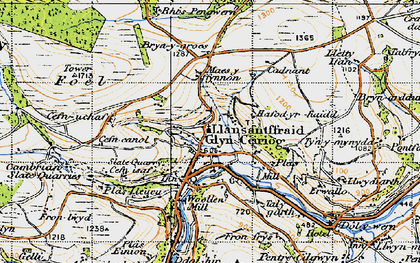 Old map of Glyn Ceiriog in 1947