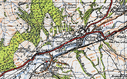 Old map of Glyn-neath in 1947