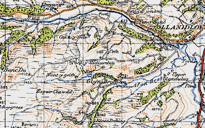 Old map of Afon Brochan in 1947