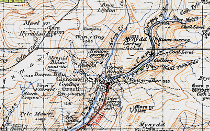 Old map of Afon Corrwg Fechan in 1947