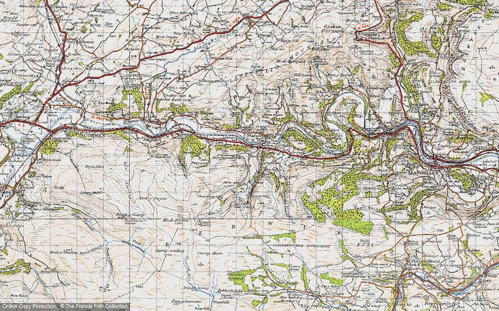 Old Map of Glyndyfrdwy, 1947 in 1947