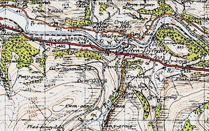 Old map of Afon Ro in 1947