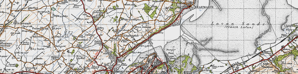 Old map of Glyngarth in 1947