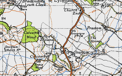 Old map of Goatacre in 1947