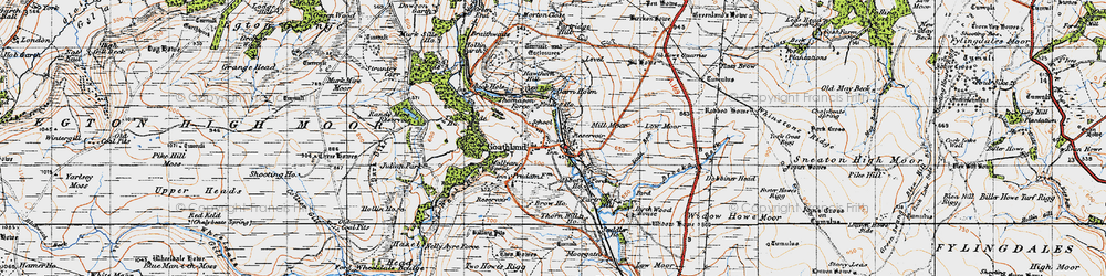 Old map of Widow Howe in 1947