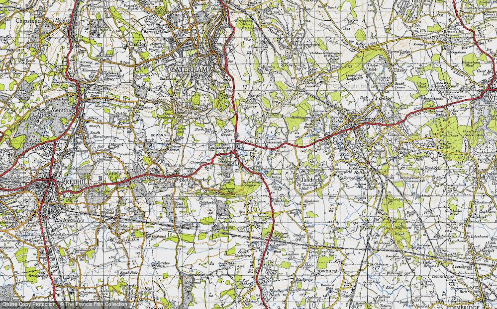 Old Map of Godstone, 1946 in 1946