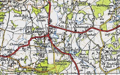 Old map of Godstone in 1946