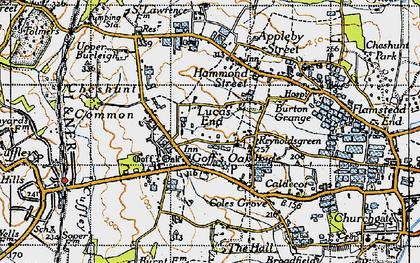 Old map of Goff's Oak in 1946