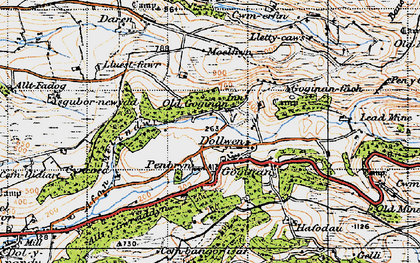 Old map of Goginan in 1947