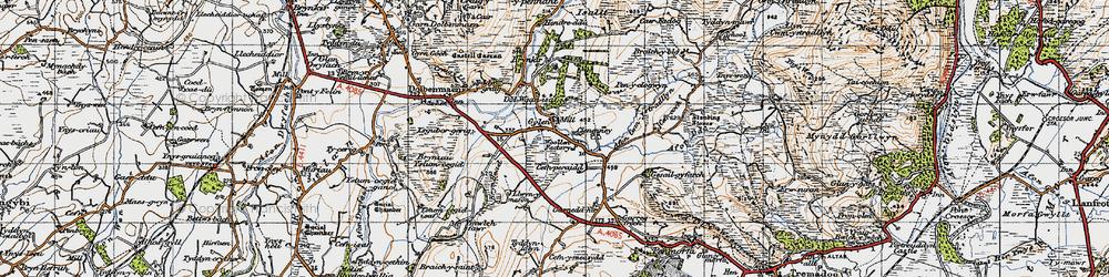 Old map of Ysgubor Gerrig in 1947