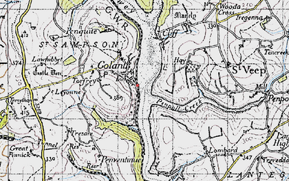 Old map of Golant in 1946