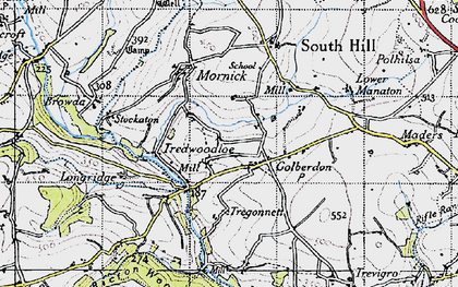 Old map of Golberdon in 1946