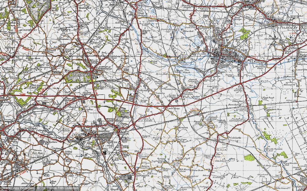 Old Map of Golborne, 1947 in 1947