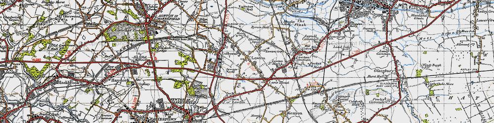 Old map of Golborne in 1947