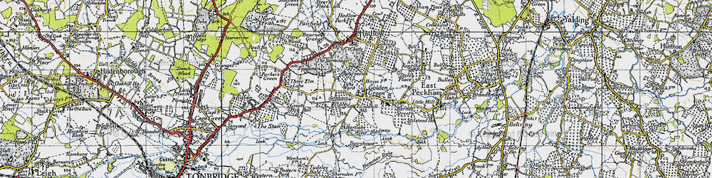 Old map of Tithe Ward in 1946