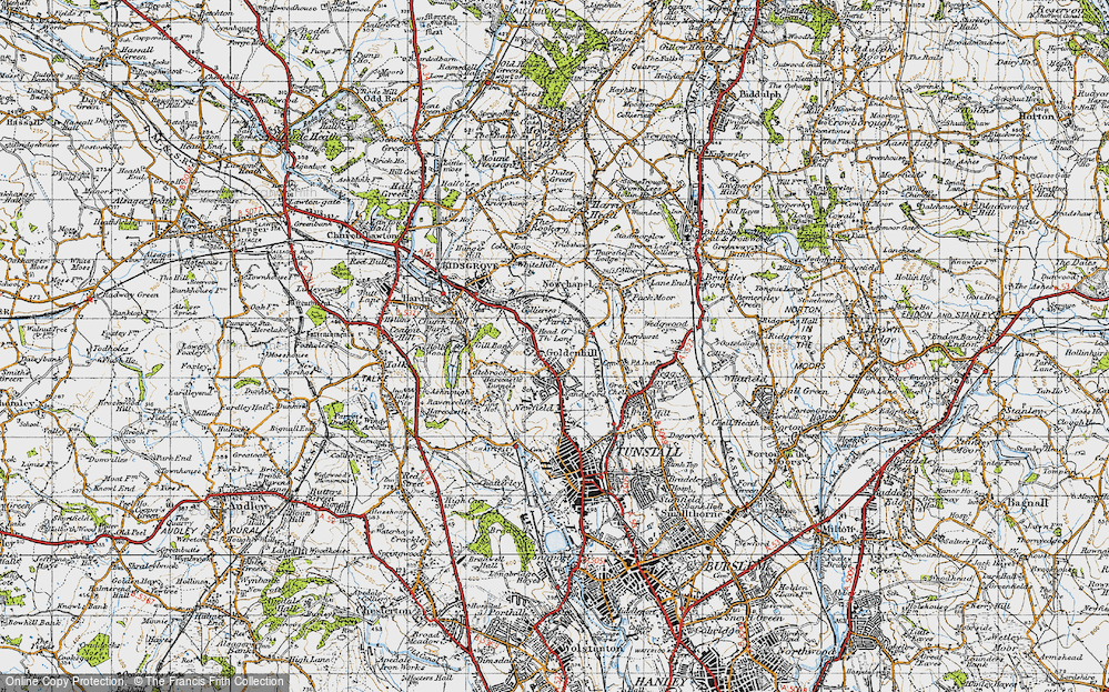 Old Map of Goldenhill, 1946 in 1946
