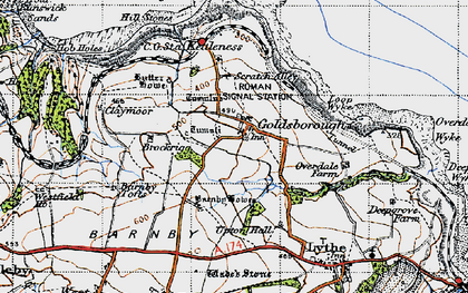 Old map of Lythe in 1947