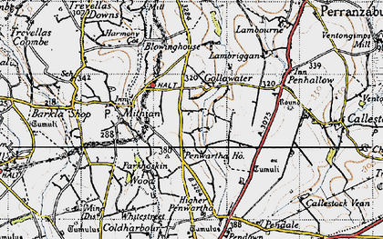 Old map of Gollawater in 1946
