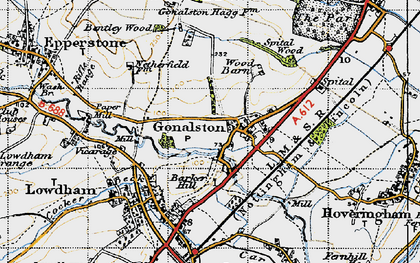 Old map of Wood Barn in 1946