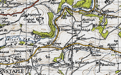 Old map of Goodleigh in 1946
