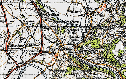 Old map of Goodrich in 1947