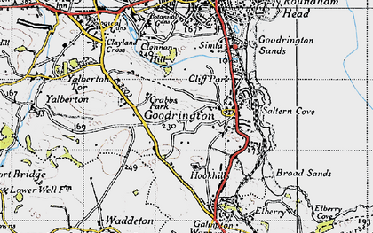 Old map of Goodrington in 1946