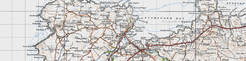 Old map of Goodwick in 1947