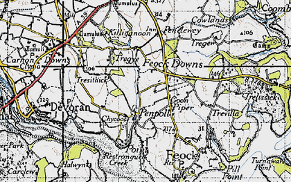 Old map of Goon Piper in 1946