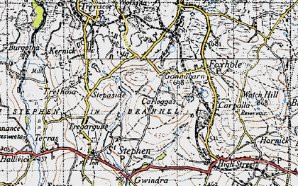 Old map of Goonabarn in 1946