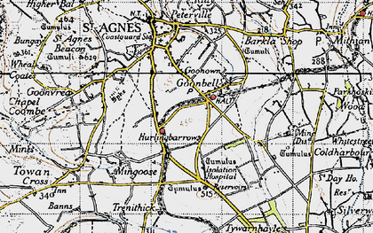Old map of Goonbell in 1946