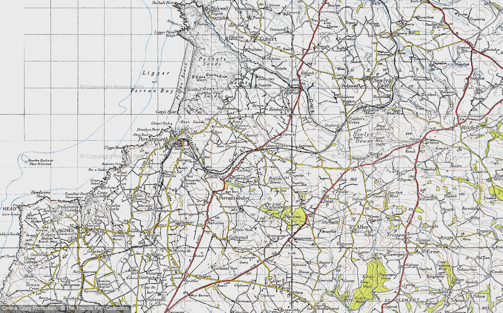 Old Map of Historic Map covering Lanteague in 1946