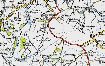 Old map of Goonhusband in 1946