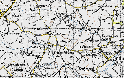 Old map of Goonlaze in 1946